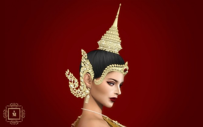 Sims 4 MONTHANA TRADITION THAI EARRINGS at MSSIMS