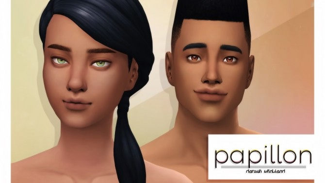 Sims 4 PAPILLON default + nondefault skin blend for all ages at Viiavi