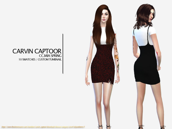 Sims 4 Mia Spring dress by carvin captoor at TSR