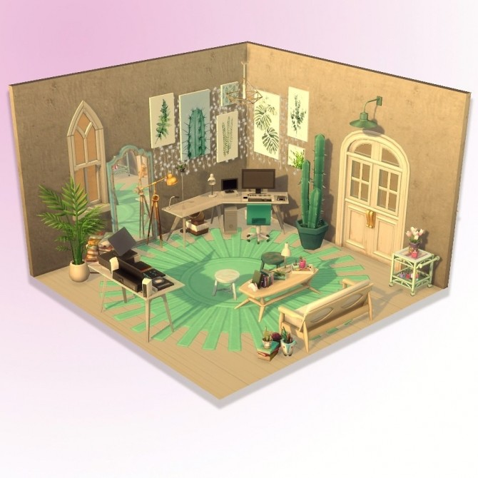 Sims 4 Be inspired… office at Agathea k