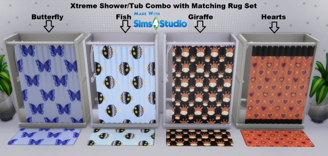 Xtreme Shower/Tub Combo with Matching Rug Set by wendy35pearly at Mod The Sims image 1556 670x319 Sims 4 Updates