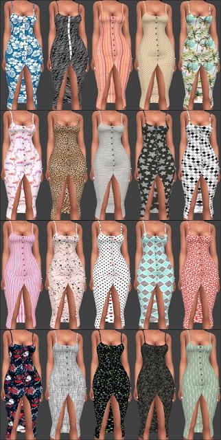 Sims 4 NitroPanic Snap Long Dress Recolors at Annett's Sims 4 Welt