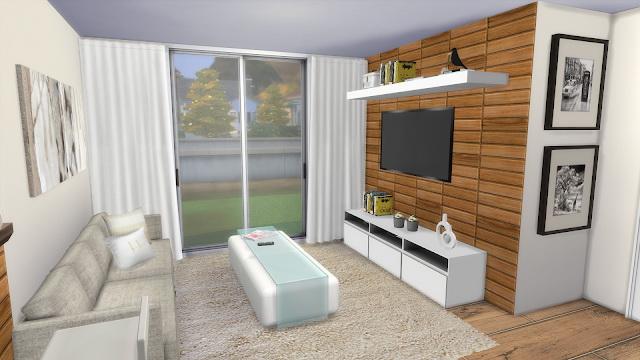 Sims 4 Kitchen + Livingroom at Dinha Gamer