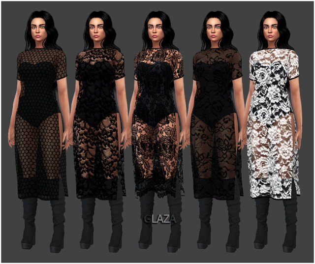 Sims 4 DRESS 88 at All by Glaza