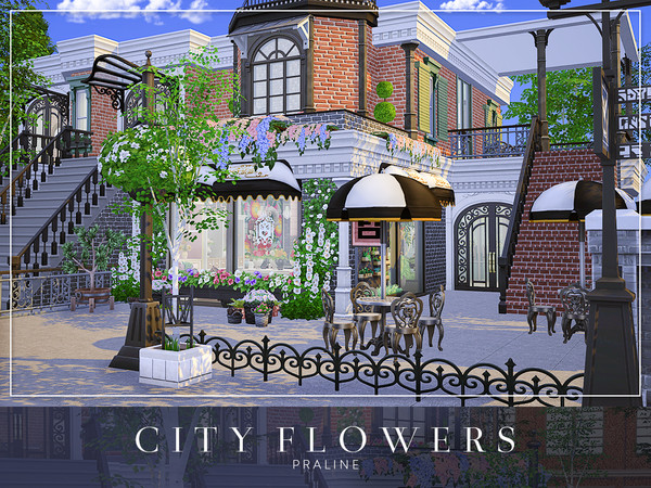 Sims 4 City Flowers house by Pralinesims at TSR