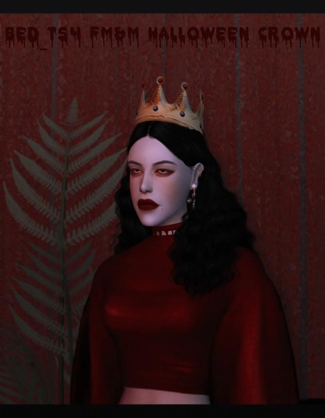 Sims 4 FM&M Halloween Crown at Bedisfull – iridescent