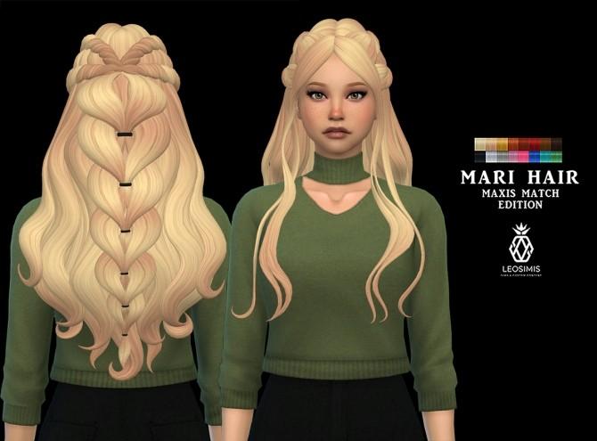 Sims 4 Mari Hair MM (P) at Leo Sims