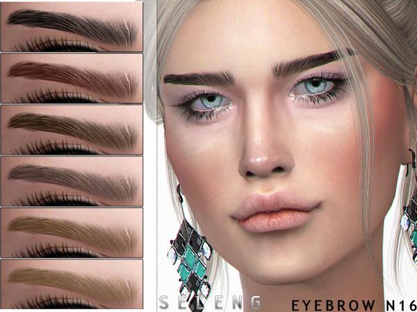 Sims 4 Eyebrow N16 by Seleng at TSR