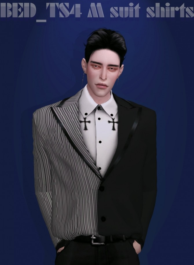 Sims 4 M suit shirts at Bedisfull – iridescent
