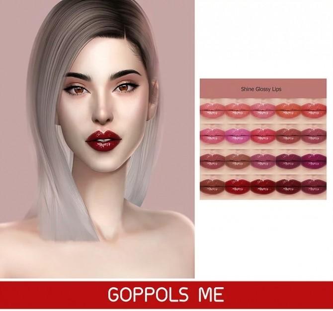 GPME Shine Glossy Lips at GOPPOLS Me image 1674 670x625 Sims 4 Updates