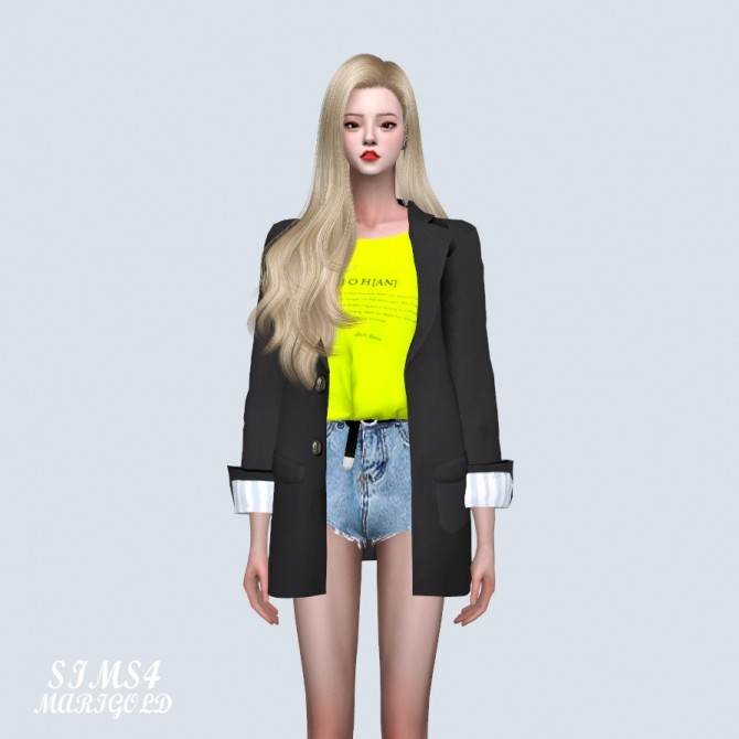 Sims 4 Point Cuffs Jacket With T (P) at Marigold