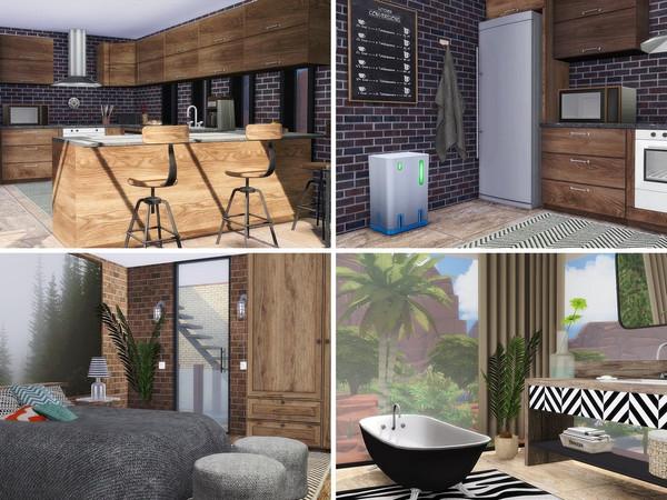 Sims 4 Industrial Loft by MychQQQ at TSR