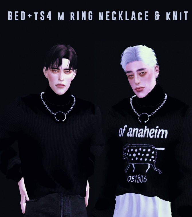 M ring necklace & knit at Bedisfull – iridescent image 172 670x758 Sims 4 Updates