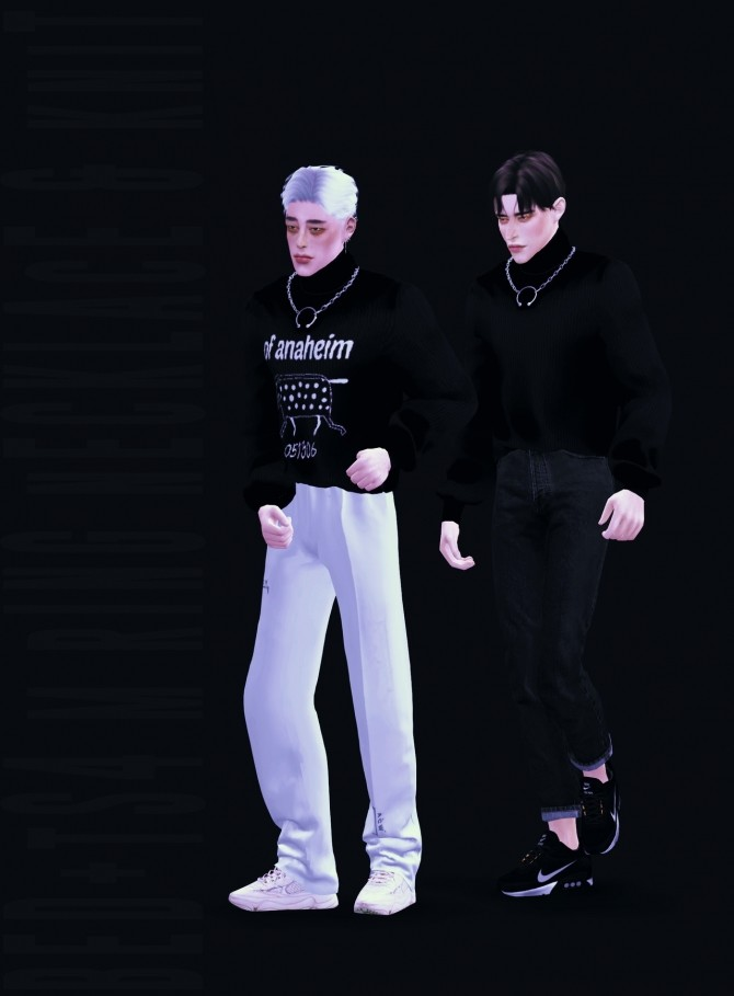 M ring necklace & knit at Bedisfull – iridescent image 173 670x909 Sims 4 Updates