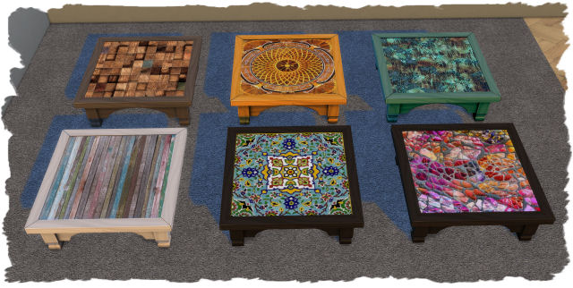 Sims 4 Coffee table by Chalipo at TSR