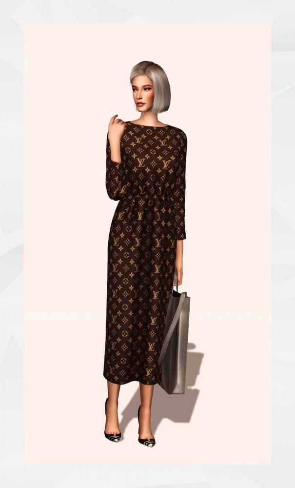 Elastic Waist Long Dress at Gorilla image 1741 605x1000 Sims 4 Updates