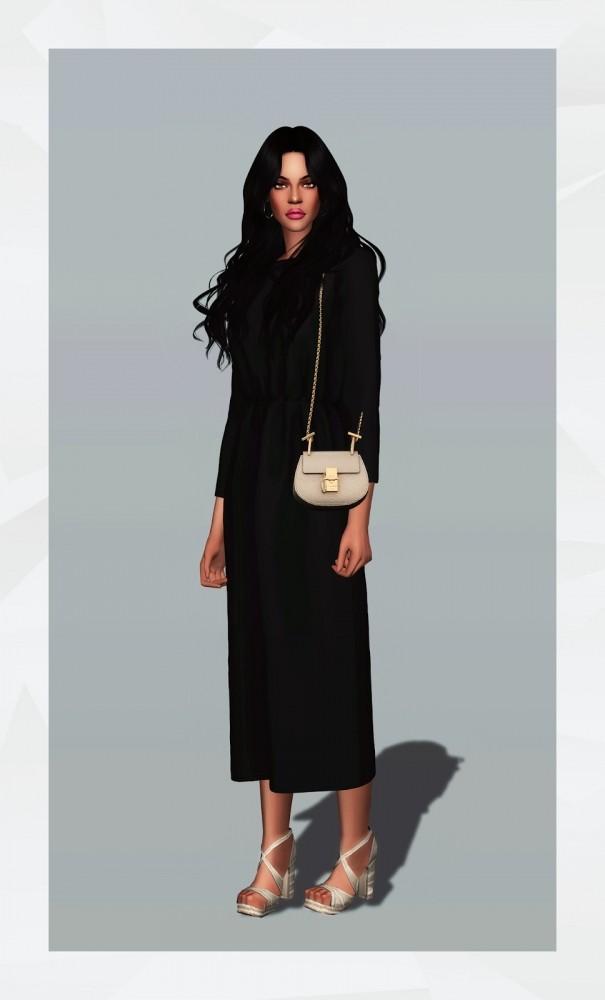 Elastic Waist Long Dress at Gorilla image 1751 605x1000 Sims 4 Updates