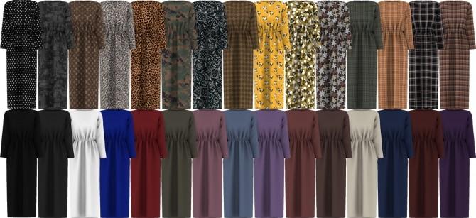 Elastic Waist Long Dress at Gorilla image 1761 670x307 Sims 4 Updates