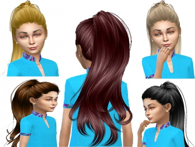 Sims 4 Anto Paraguay Hair converted for child at Trudie55