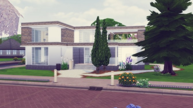 Sims 4 Woodside house at Simming With Mary