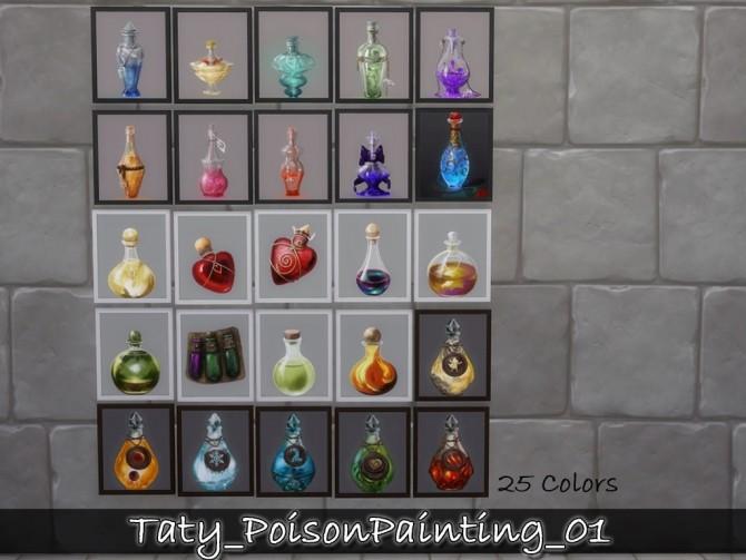Poison paintings 01 at Taty – Eámanë Palantír image 1832 670x503 Sims 4 Updates