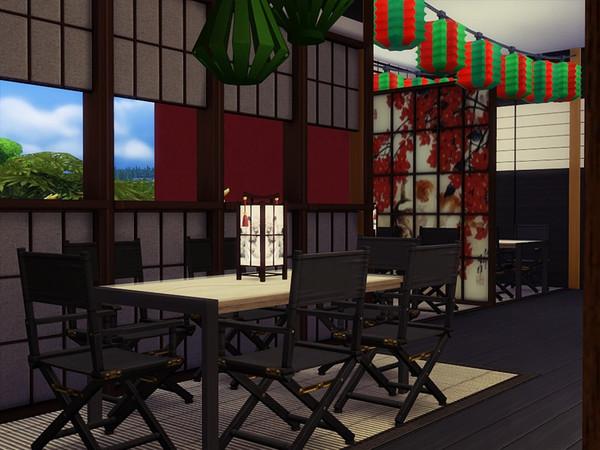 Sims 4 SAKE Restaurant by marychabb at TSR