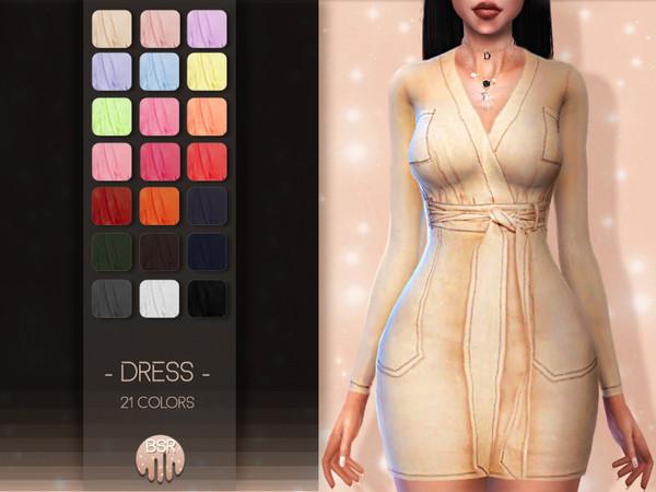 Sims 4 Dress BD34 by busra tr at TSR