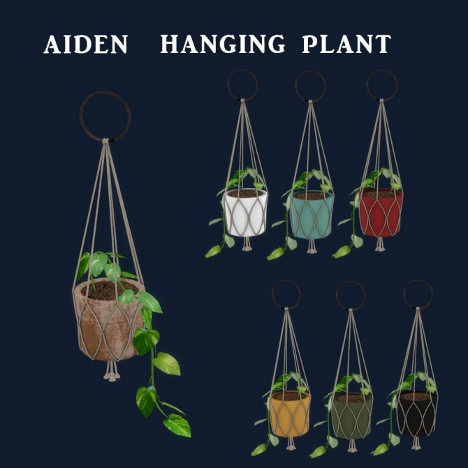 Sims 4 Aiden Hanging Plant at Leo Sims
