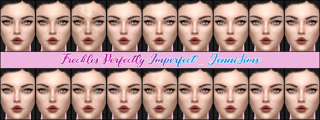 Freckles Perfectly Imperfect in 18 variants at Jenni Sims image 1963 Sims 4 Updates