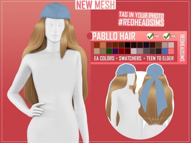 PABLLO HAIR at REDHEADSIMS image 1992 670x504 Sims 4 Updates