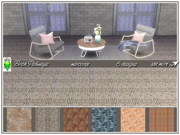 Brick Pathways by marcorse at TSR image 2 Sims 4 Updates