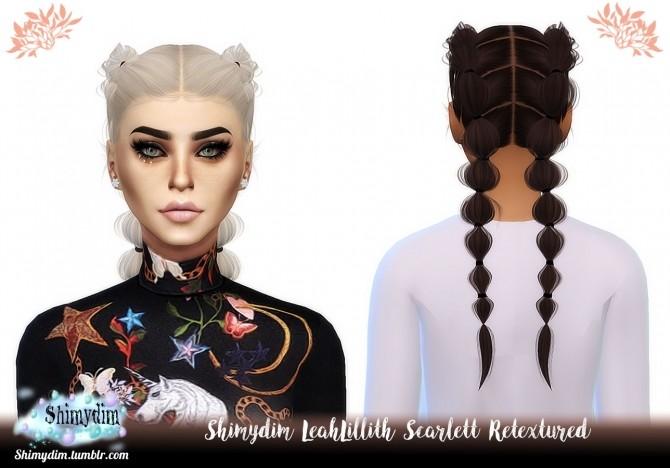 Sims 4 LeahLilith Scarlett Hair Retexture Naturals + Unnaturals at Shimydim Sims