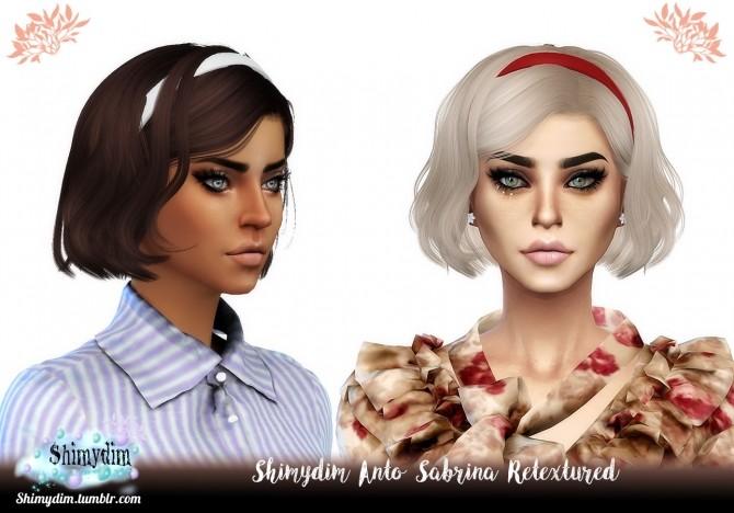 Sims 4 Anto Sabrina Hair Retexture Naturals + Unnaturals at Shimydim Sims