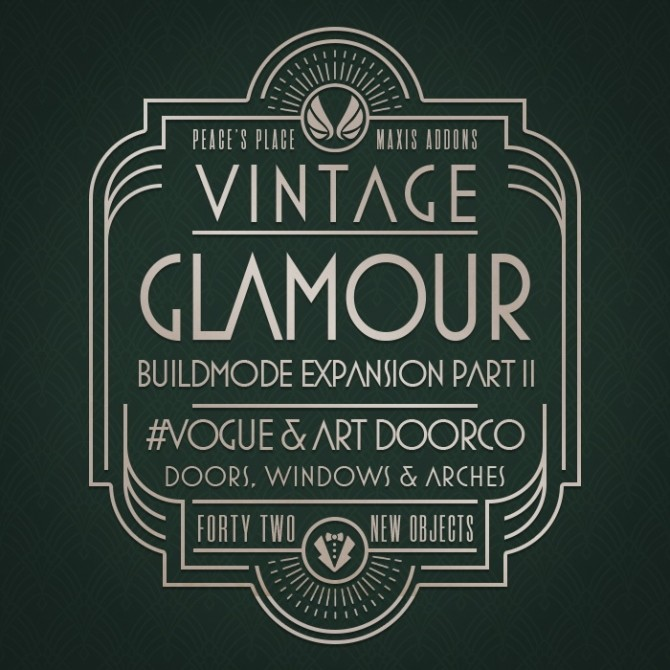 Vintage Glamour Build Addon Part II at Simsational Designs image 2033 670x670 Sims 4 Updates