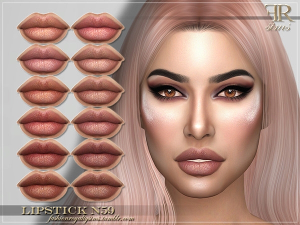 FRS Lipstick N59 by FashionRoyaltySims at TSR image 2038 Sims 4 Updates