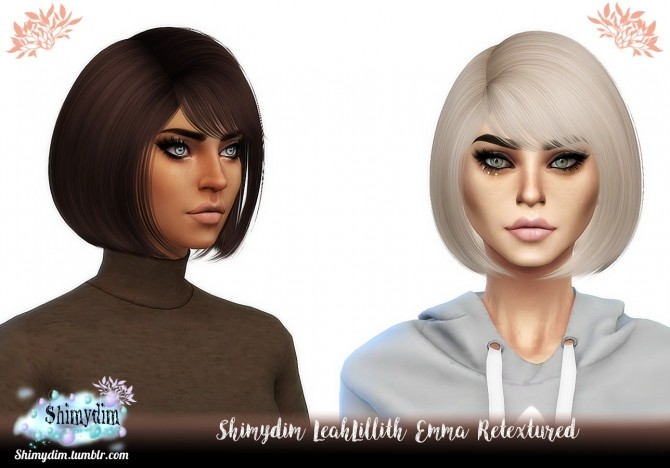 Sims 4 NightCrawler Dove Hair Retexture Naturals + Unnaturals at Shimydim Sims