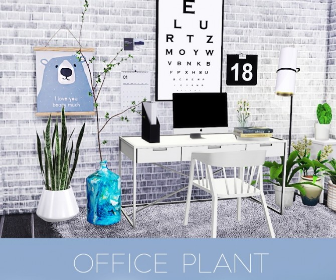 OFFICE PLANT at Kenzar Sims image 2062 670x558 Sims 4 Updates