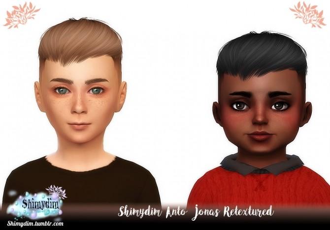 Sims 4 Anto Jonas Hair Retexture Child & Toddler Naturals + Unnaturals at Shimydim Sims