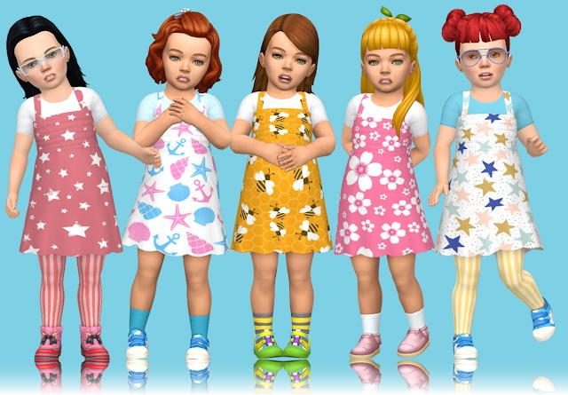 Sims 4 Spring Toddler Stuff Dress at Annett's Sims 4 Welt
