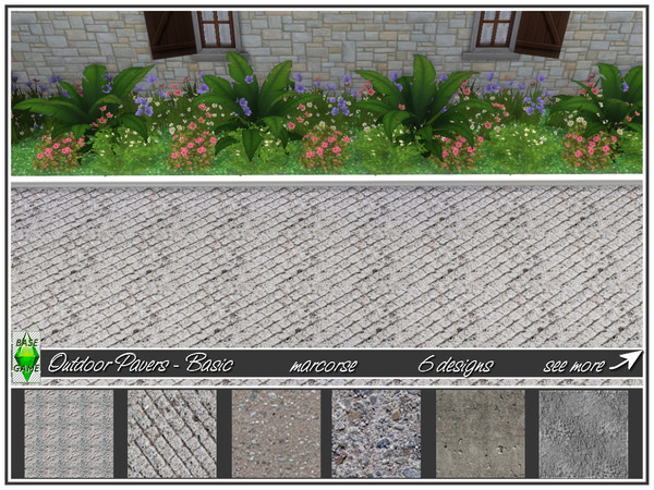 Outdoor Pavers Basic by marcorse at TSR image 21251 Sims 4 Updates