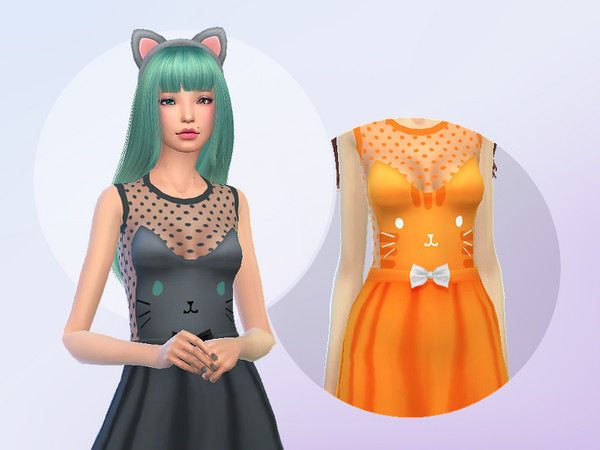Dress Cat Face by Saruin at TSR image 2148 Sims 4 Updates