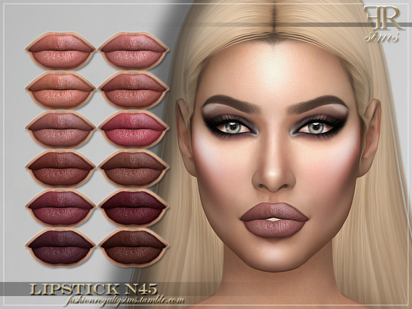 FRS Lipstick N45 by FashionRoyaltySims at TSR image 22 Sims 4 Updates