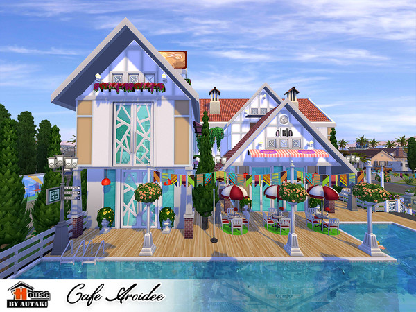 Sims 4 Cafe Aroidee by autaki at TSR