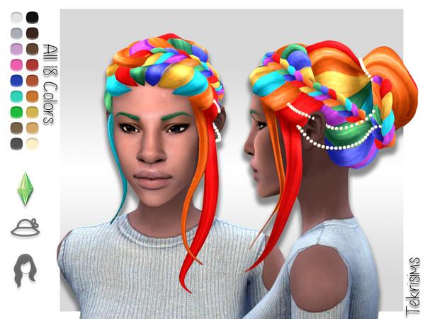 Sims 4 Nadia Bun by TekriSims at TSR