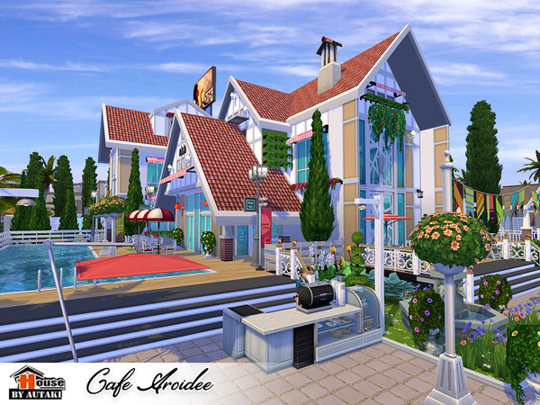 Cafe Aroidee by autaki at TSR image 2319 Sims 4 Updates