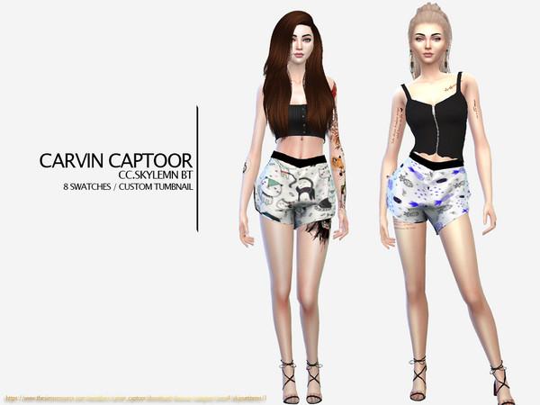 Sims 4 Skylemn BT shorts by carvin captoor at TSR