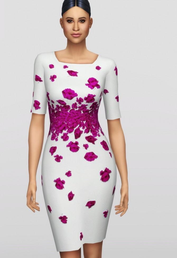 Sims 4 Blue Lasa Poppy Dress at Rusty Nail