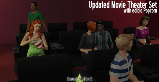 Updated Movie Theater by Sandy at Around the Sims 4 image 2561 670x349 Sims 4 Updates