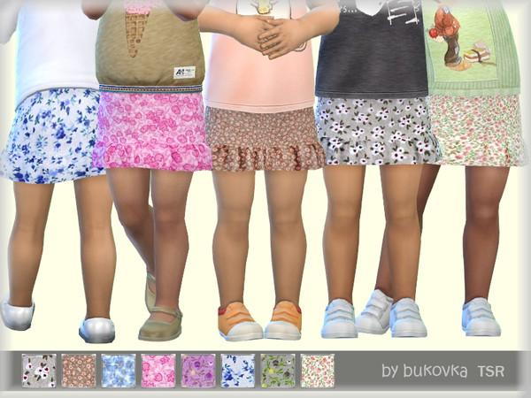 Sims 4 Skirt Flowers by bukovka at TSR
