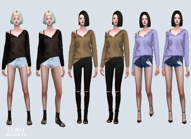 Sims 4 MG Natural Long T (P) at Marigold